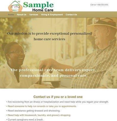 Home care agency website